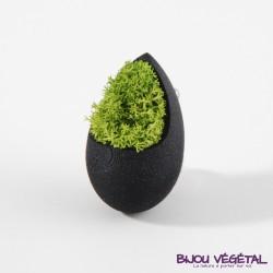 Broche composite balcon broche fushia avec végétal