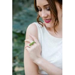 Bague Mariage argent Jardiniere lichen