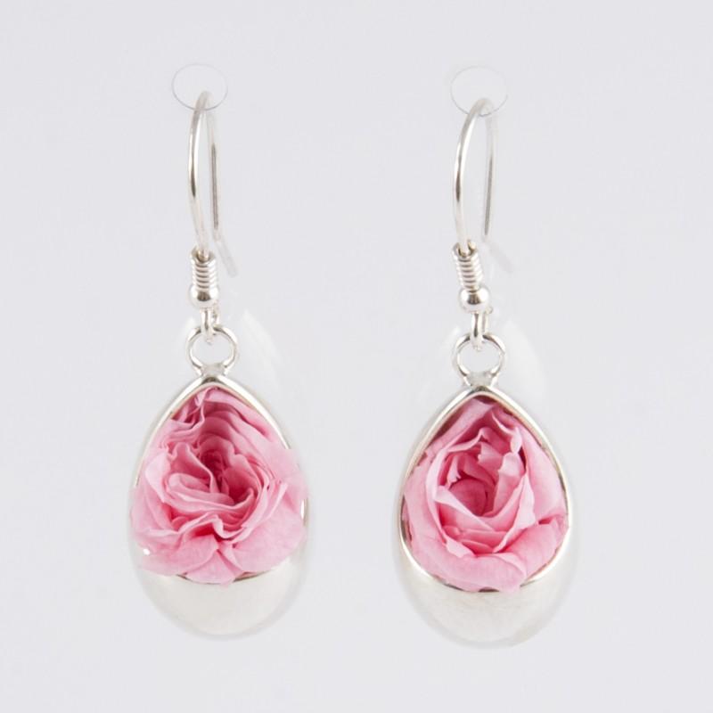 Acheter Authentic revendeur détails pour Boucles d'oreilles Prestige goutte argent avec des roses coloris rose pâle