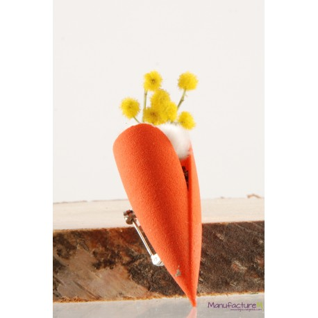 Broche Tulipe mandarine plante