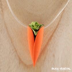 Collier Tulipe Mandarine avec plante