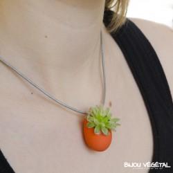 Collier Goutte Mandarine avec plante