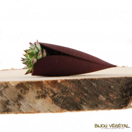 Broche Tulipe Prune avec plante