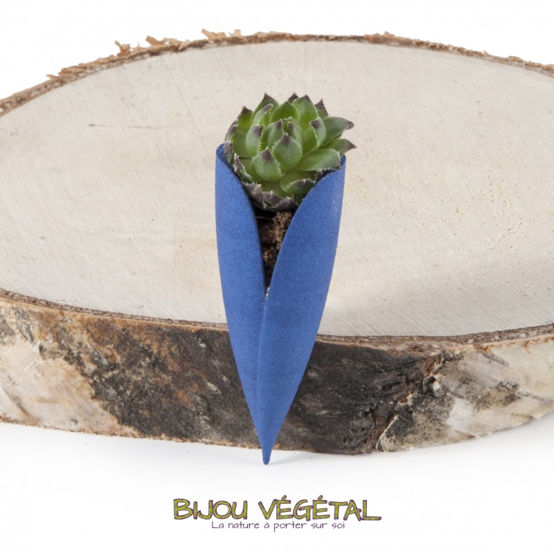 broche tulipe avec terre et v g tal vivant manufacturem. Black Bedroom Furniture Sets. Home Design Ideas