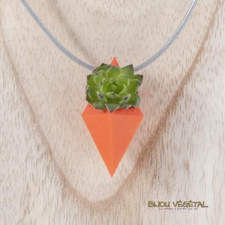 Collier Diamant Mandarine et plante