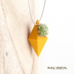 Collier Diamant Jaune et plante