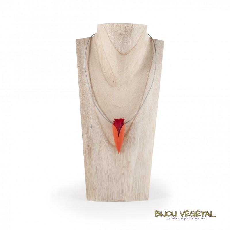 collier pendentif tulipe mandarine pour v g tal naturel. Black Bedroom Furniture Sets. Home Design Ideas